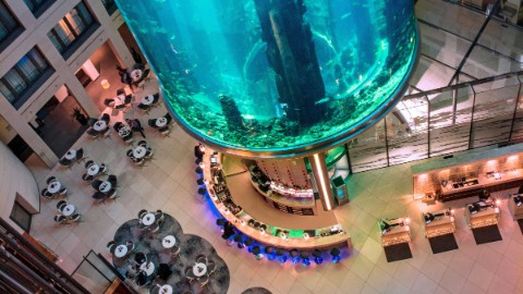 Image 6: Overhead shot of the lobby of the Radisson Blu at DomAquarée Berlin.