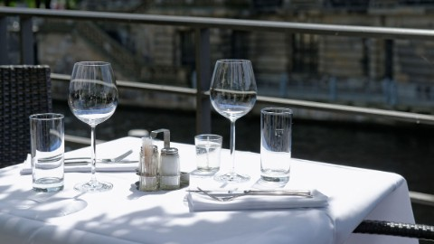 Image 8: A set table by the Spree river.
